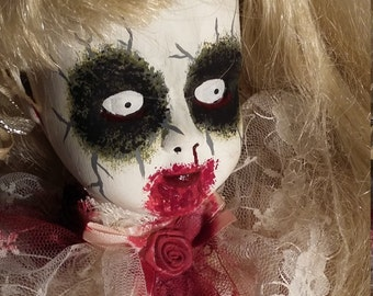 Suzee - Creepy Zombie Porcelain Doll