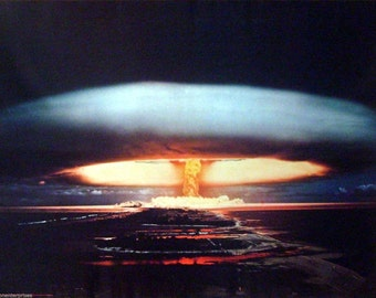 Hydrogen Bomb 27x39 Atomic Nuclear Poster