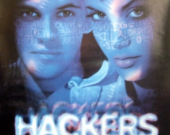 Hackers 27x40 Theatrical Movie Poster Angelina Jolie