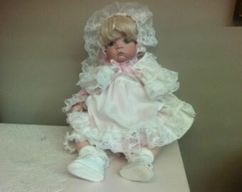 Handmade Porcelain Baby Doll.