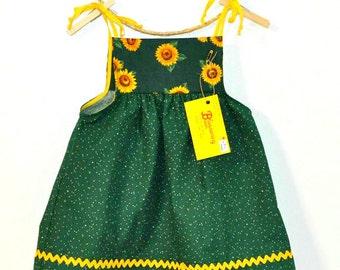 China Cat Sunflower Toddler Dress