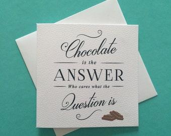 Chocolate Mini Greeting Card