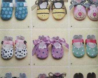 Infant Shoes Simplicity 2491 Sew Baby Shoes Infant Wear Booties Baby Animal Shoes