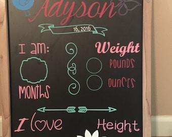 Baby chalk board