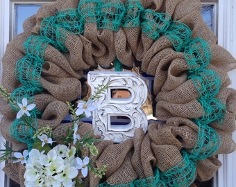 Rustic Wreath with Initial
