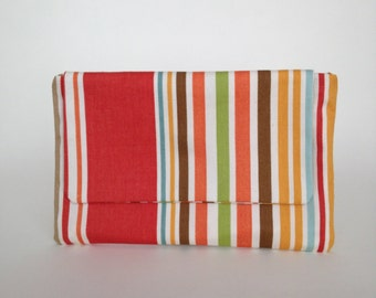 Striped Cotton Clutch by Jenny K Designs