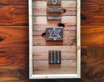 Reclaimed Redwood wall hanging