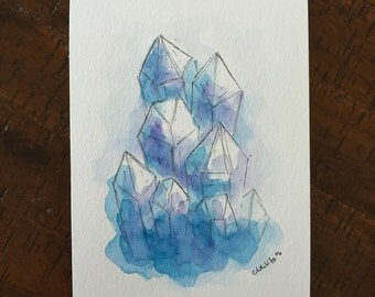 Crystal Study Painting ORIGINAL
