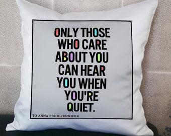 Quote Pillow, Custom Pillow, Personalized Pillow, Friendship Pillow, Best Friend Pillows, 14X14' (35X35cm) With Inner Cushion