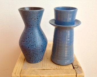 Two vintage vases. West-Germany vase and Dutch design with signature. 60s 70s