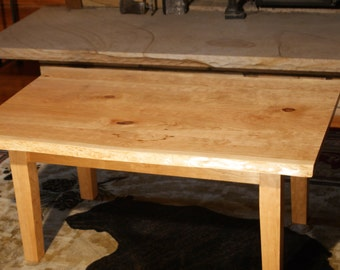 Handcrafted cherry coffee table