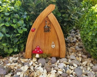 Outside garden Fairy Door Elf Door Bird Cage Beautiful Handmade