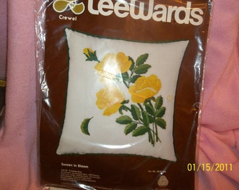 crewel pillow kit