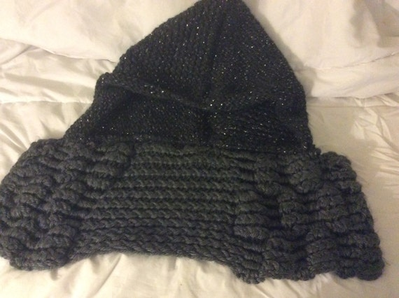 Knitted Hooded Purl Cowl