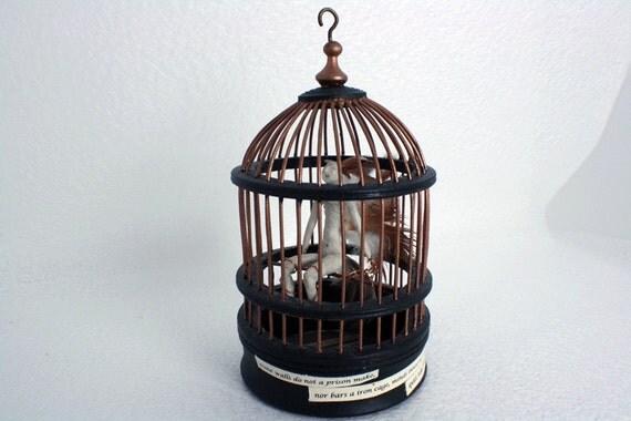 Althea (Tiny doll in a tiny Birdcage)