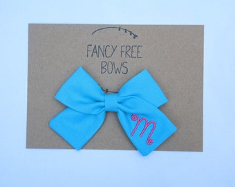Personalize ~ ADD swirly letter to small or large bow **purchase bow separately** monogram bow// personalized bow//