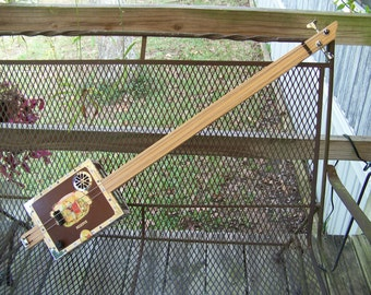 2 String Slide Cigar Box Bass