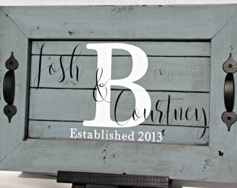 Personalized Wood Tray, home decor, kitchen decor, distressed tray, rustic decor, personalized gift, rustic wood tray
