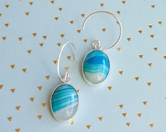 Sweet agate, handmade earrings