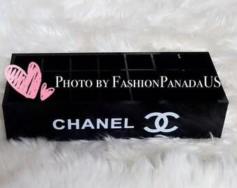 Coco Chanel Inspired Lipstick Acrylic Organizer/Holder in Black