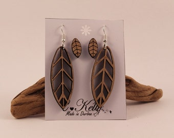 Leaf Shaped laser cut earrings