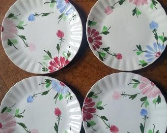 Blue Ridge Southern Pottery Mardi Gras Dinner Plates