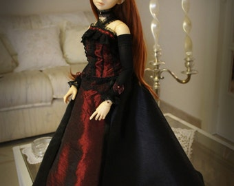 QUEEN BJD clothes dress Ball Jointed Doll SD Super Dollfie