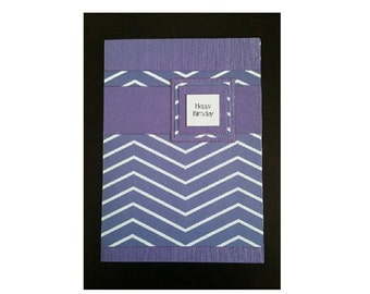 Purple Happy Birthday Greetings Card