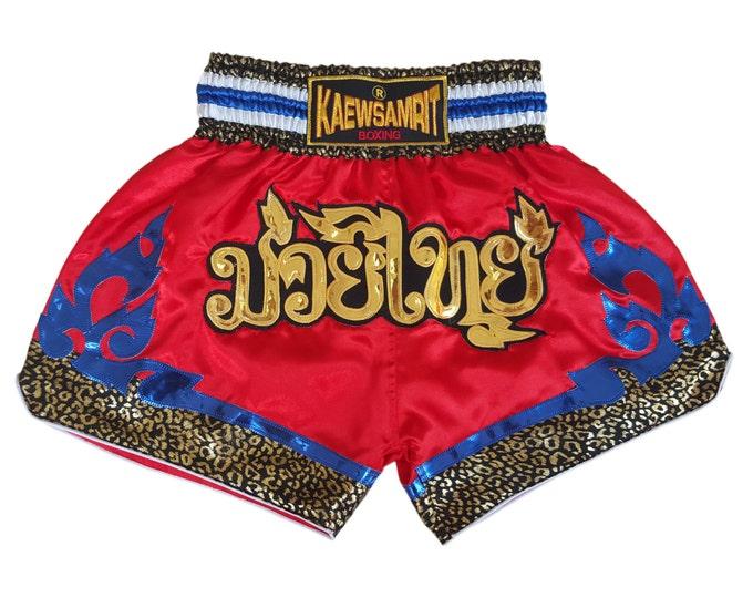 Original Muay Thai Boxing Shorts Martial Arts - Red