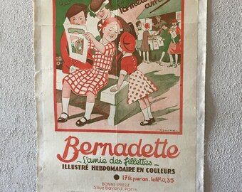 "Poster vintage ""Bernadette girls girlfriend"""