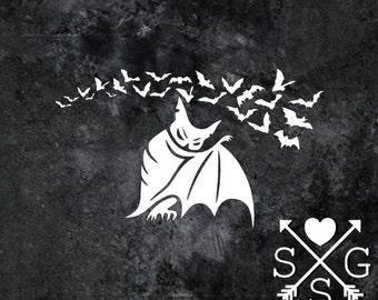 Bats Decal Batty Vampire Bats Car Decal Skateboard Decal Guitar Decal Laptop decal