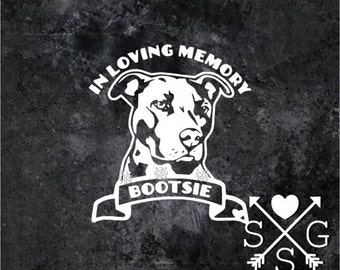 Pitbull Decal Pitbull Memorial Sticker Pitbull Memorial Decal
