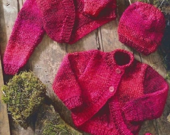 Baby Boleros, Hat And Mittens, Knitting Pattern. PDF Instant Download.