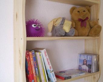70 cm H x 60 cm W Plain Pine Kitchen, Bedroom, Bathroom Shelves