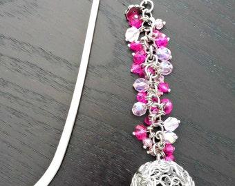 Bookmark ball and Crystal pink