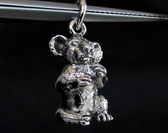 Sterling silver animal pendant Koala Bear - Australia