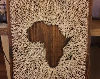 Africa Map String Art