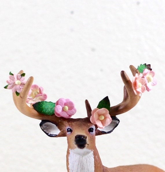 Plastic Woodland Animal Cake Decorations