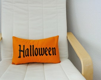 Halloween throw pillow Orange Halloween pillow home decor October 31st decor Decorative pillow Gothic Halloween throw pillow