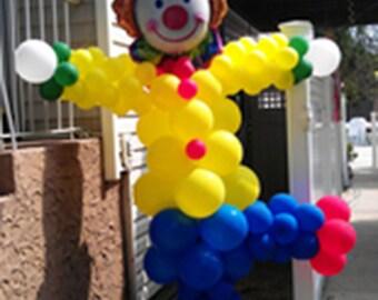 DIY 8ft Balloon Clown Party Sculpture