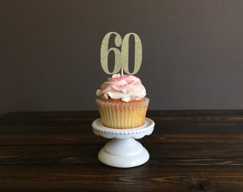 Personalized number cupcake topper, Cupcake topper birthday,sixty birthday, 60 birthday party, birthday decorations