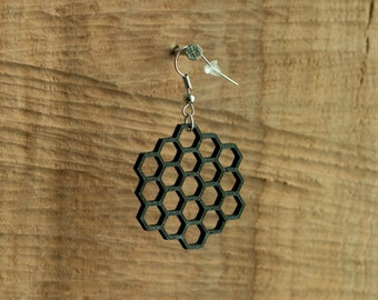 Earrings hexagon 1