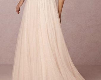 Gianina- A-line tulle skirt, custom skirt.