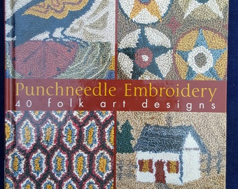 Punchneedle Embroidery 40 folk art designs