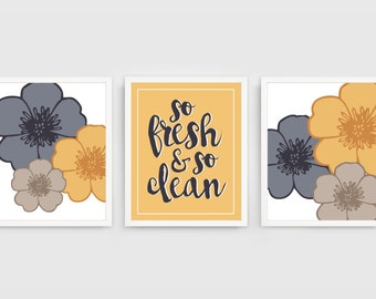 So Fresh & So Clean Bathroom Printables (set of 3)