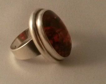 Amber ring from Fischland Germany