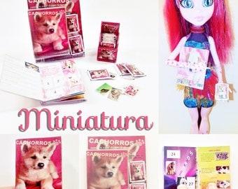"Album with ""PUPPIES"" miniature cards"