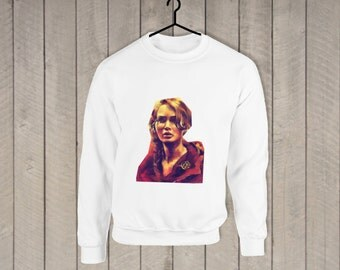 Katniss Hunger Games  White Sweater