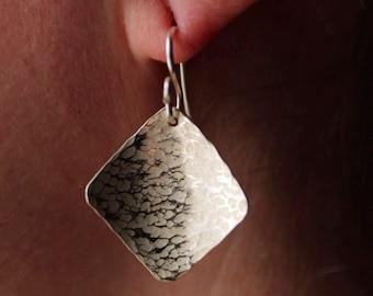 Diamond shield earrings