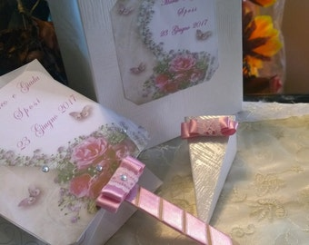 Wedding Bags with rice Cone and fan